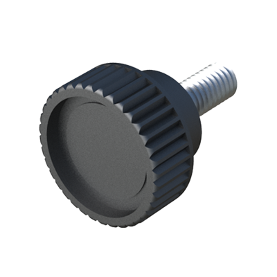 Male knob with knurled head