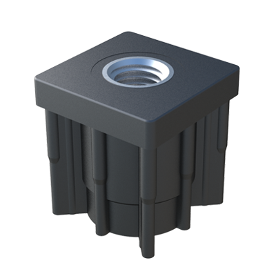Square threaded reinforced tube insert