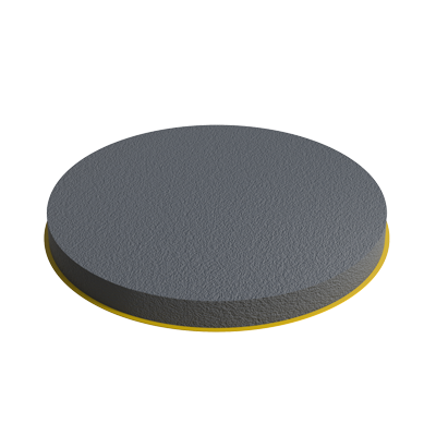 EPDM adhesive round glide for a adjustable foot