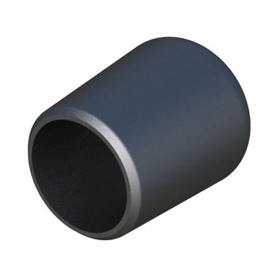Cap for round tube
