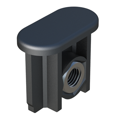 Oval tube insert-adjustable-connector