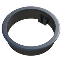 Apart from improving the fixation and finishing of the cable ducts, this adaptor ring allows the mounting of the adapter LKDZZ, for its assembly with the cable guides LKABA or LKABZ, on cable ducts LKDG and LKDT. If you want this part without connector, please visit our family LKDZ.