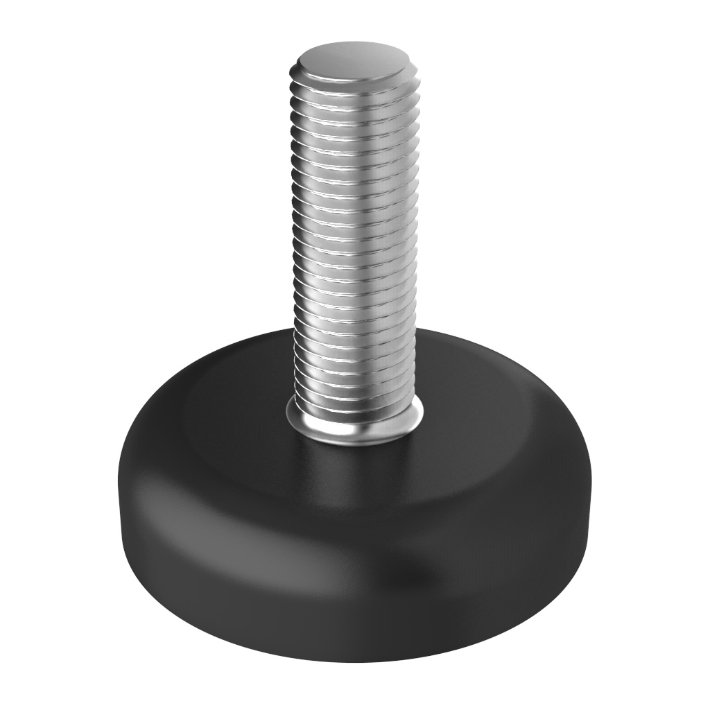 Adjustable foot with round base