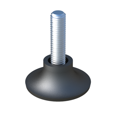 Adjustable foot with round felt base