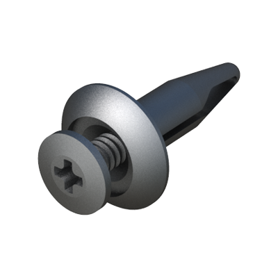 Clip-screw rivet