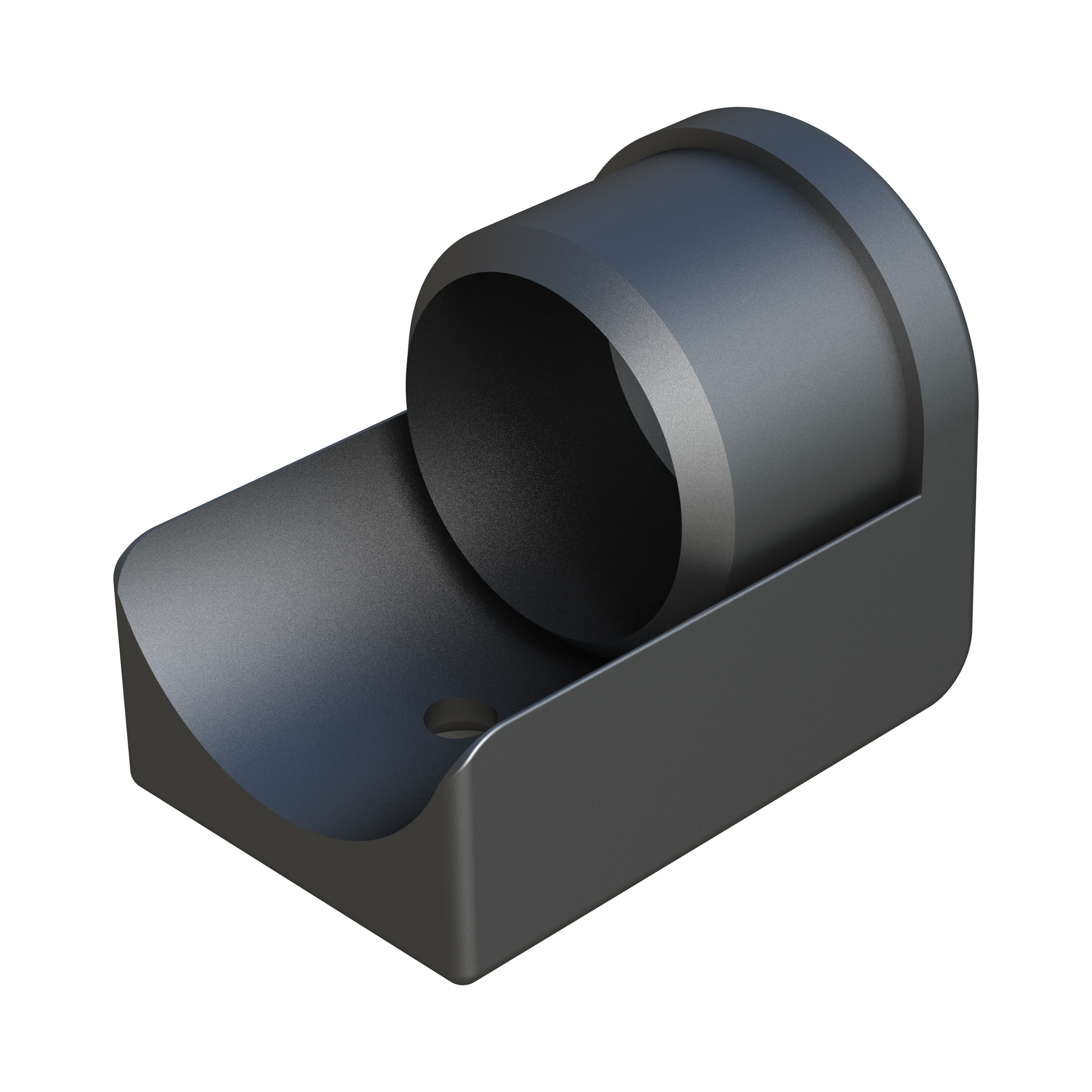 Round tube insert for end of traverses
