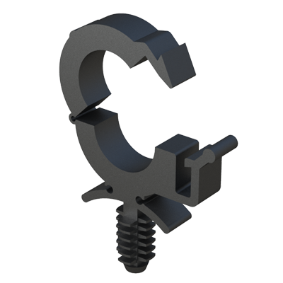 Clip clamp with anchor