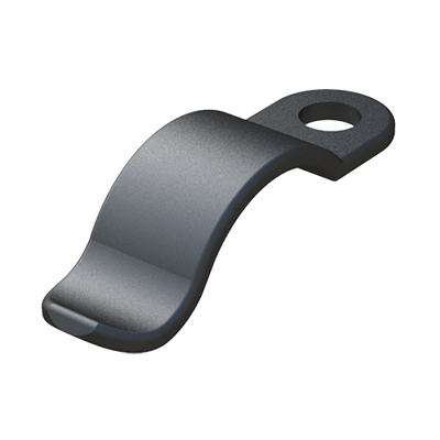 Our spring clips provide fast, secure assembly and routing of wires, standard round cable, flat cable, and tubing. The spring clips can also be used to mount panels, glass, displays, or signs. To inspect, add, or replace wires, simply pull back the clip to allow placement. The tough, flexible nylon clip will spring back to hold the material securely. All contact edges are rounded for product protection.