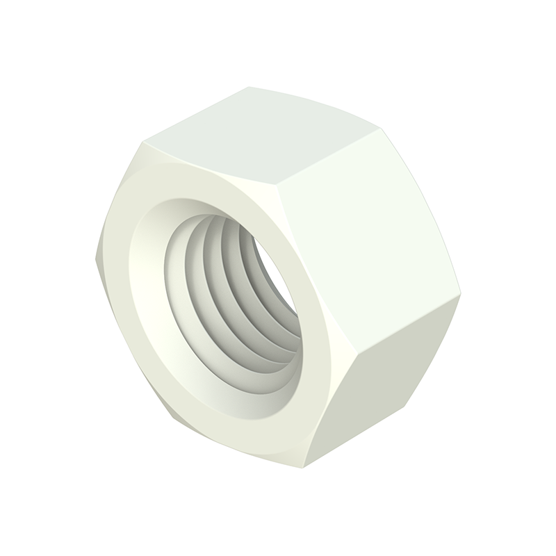 Metric thread hexagonal nut PA66 - PP - POM - PVDF