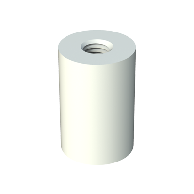 Round threaded spacer
