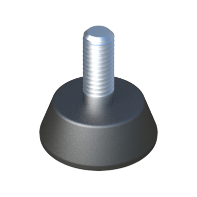 Adjustable foot with tapped round base