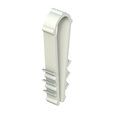 Our loop fastener is a U-shaped blind fastener for installation of pipes or cables on a wall or ceiling. Slip U-shaped fastener over wire or tube and push into drilled hole.