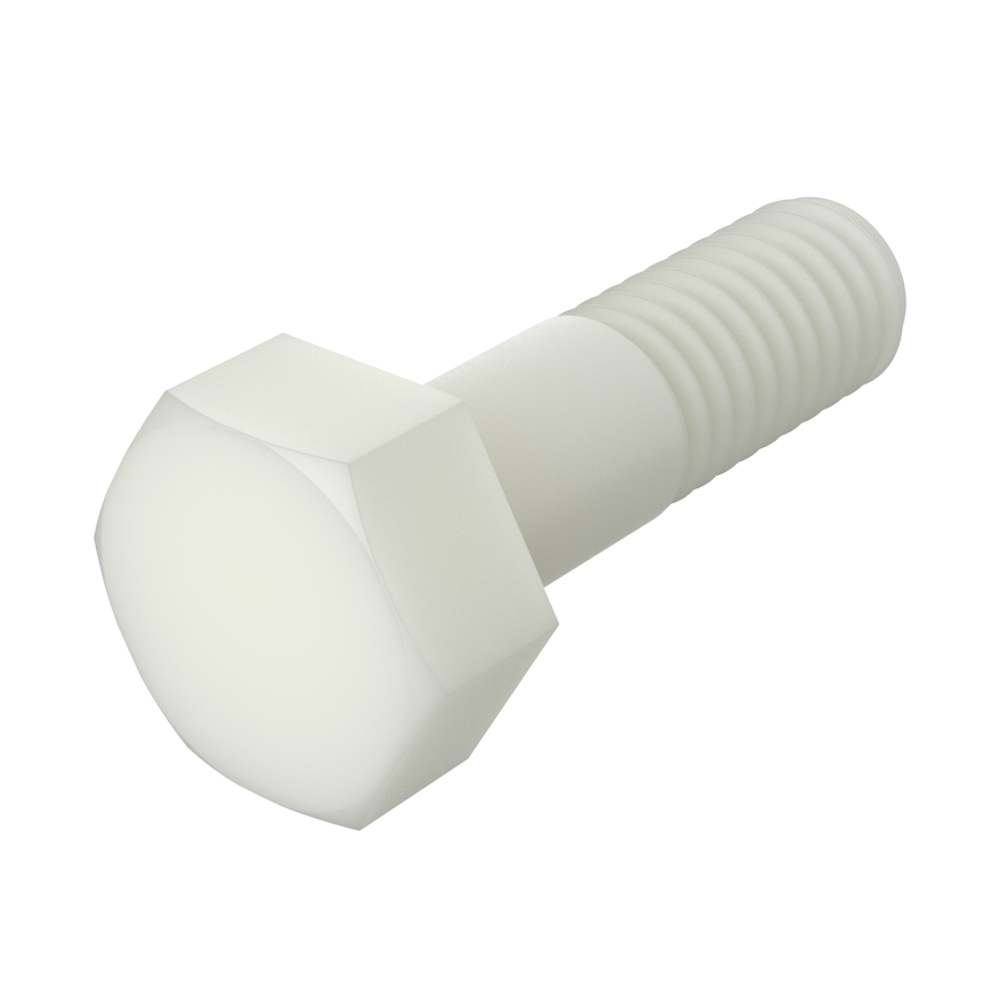 Hexagonal unslotted head screw partial thread