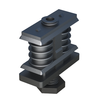 Adjustable foot with ribbed insert for rectangular tubes