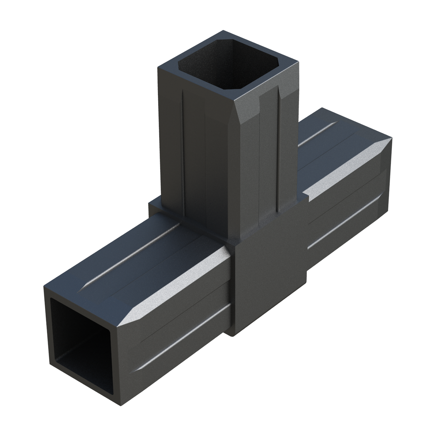 T connector for square tubes