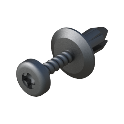 Two-piece reusable rivet