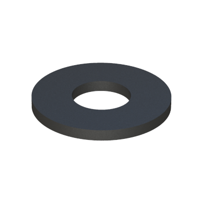 Washer-spacer-insulator without shoulder - Polyethylene - PE